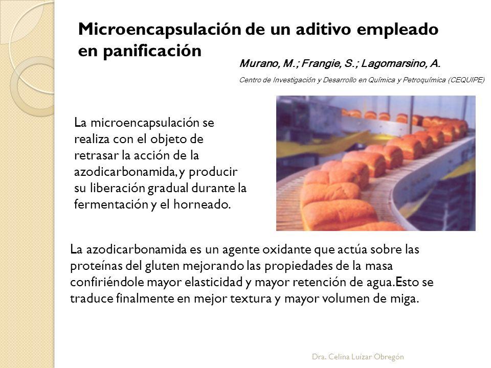 Microencapsulación de un aditivo empleado en panificación