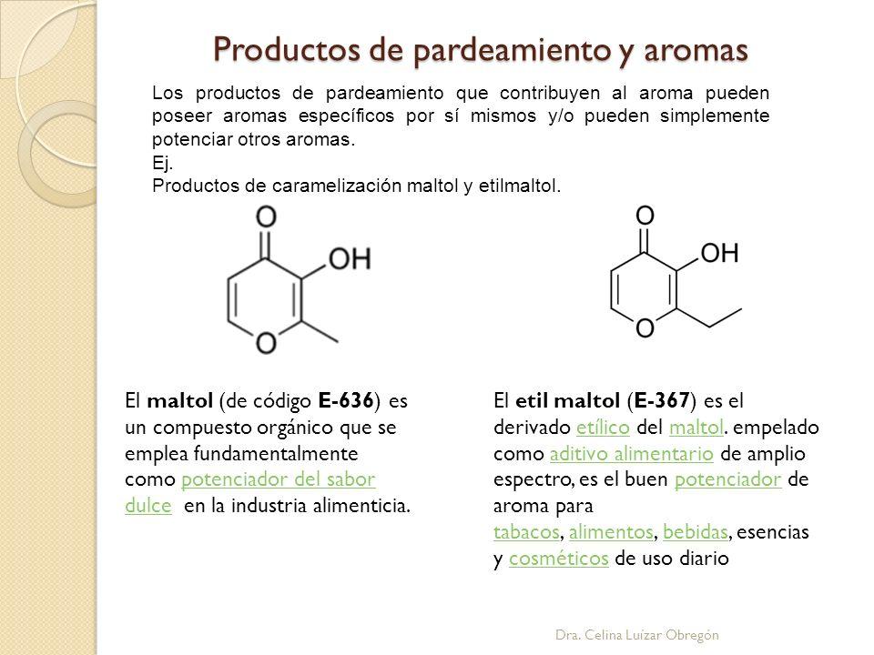Productos de pardeamiento y aromas