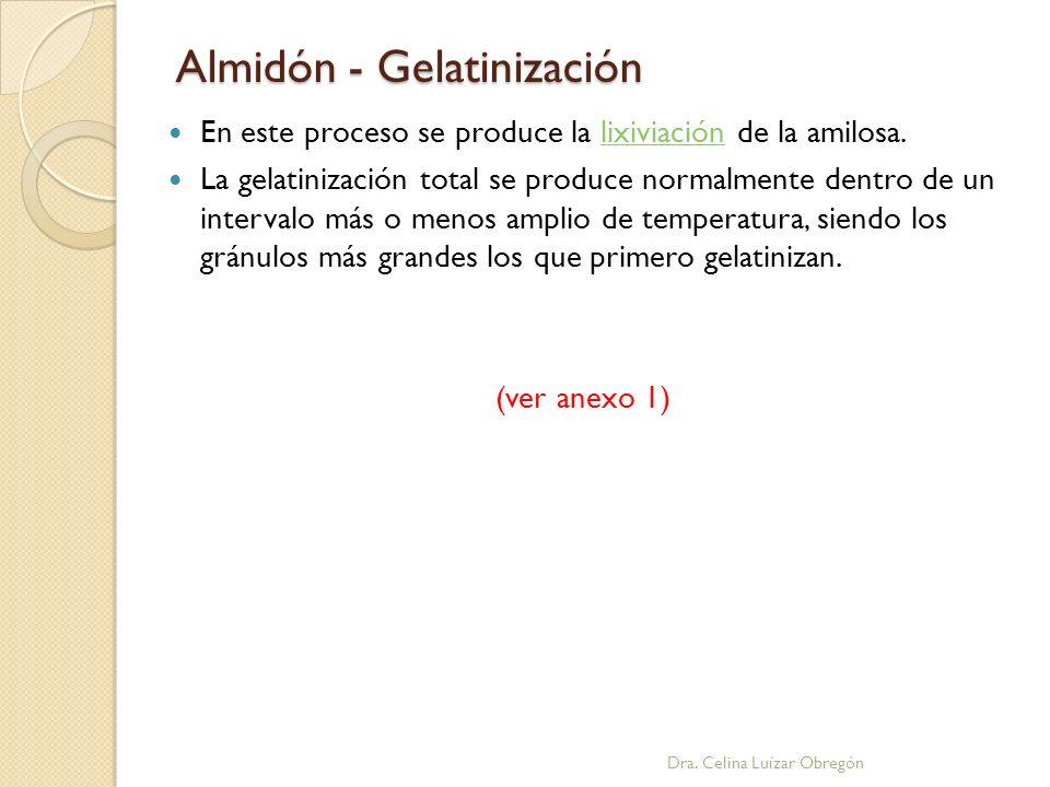 Almidón - Gelatinización