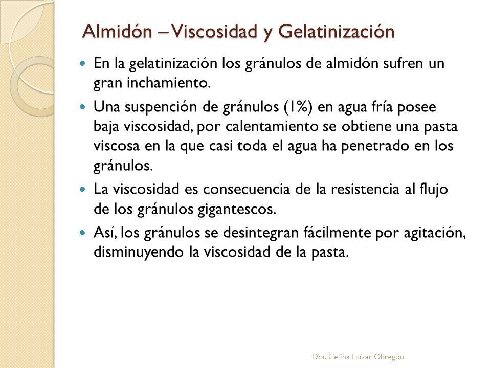Almidón – Viscosidad y Gelatinización