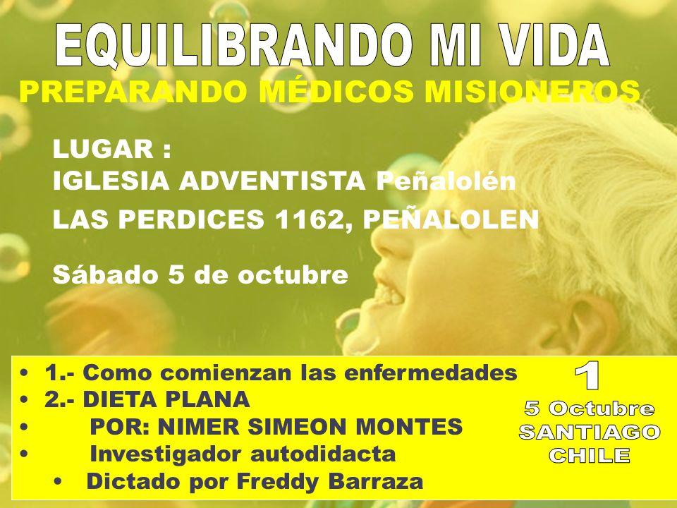 EQUILIBRANDO MI VIDA 1 5 Octubre SANTIAGO CHILE