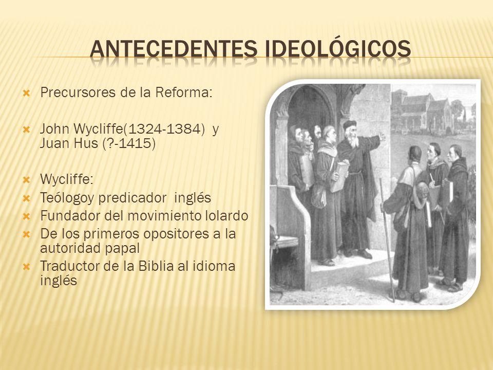 Antecedentes ideológicos