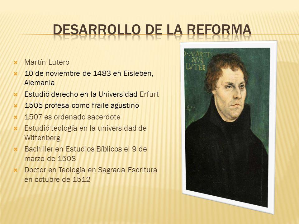 Desarrollo de la reforma