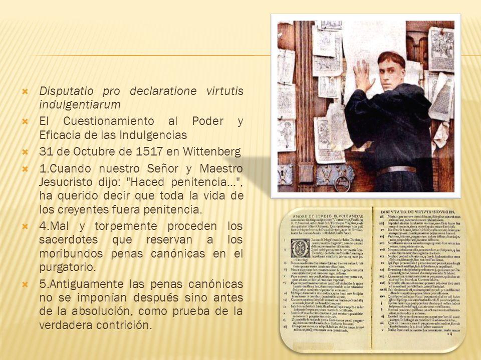 Disputatio pro declaratione virtutis indulgentiarum