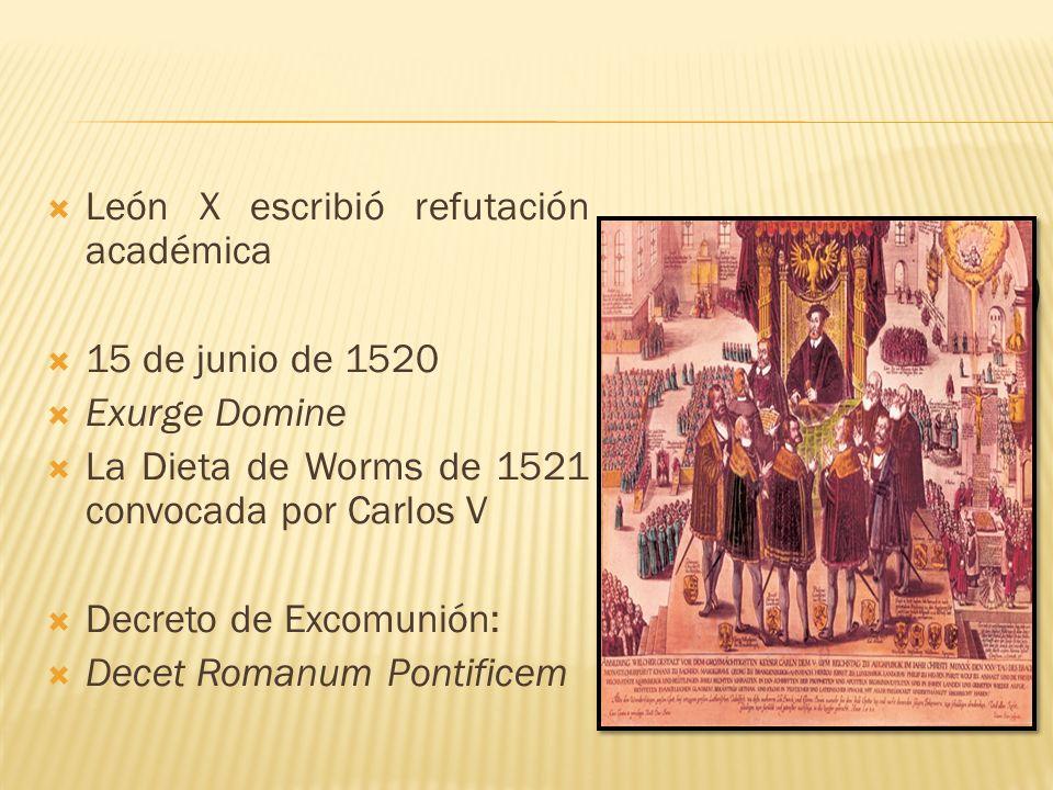 León X escribió refutación académica