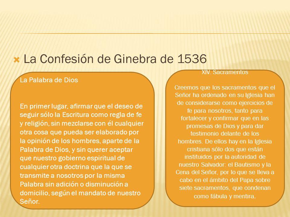 La Confesión de Ginebra de 1536