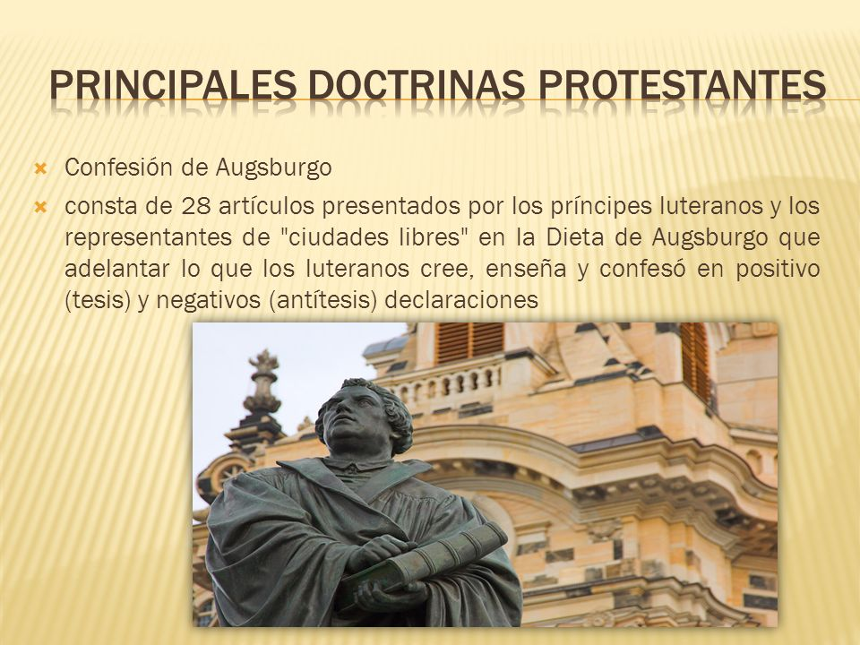Principales doctrinas protestantes