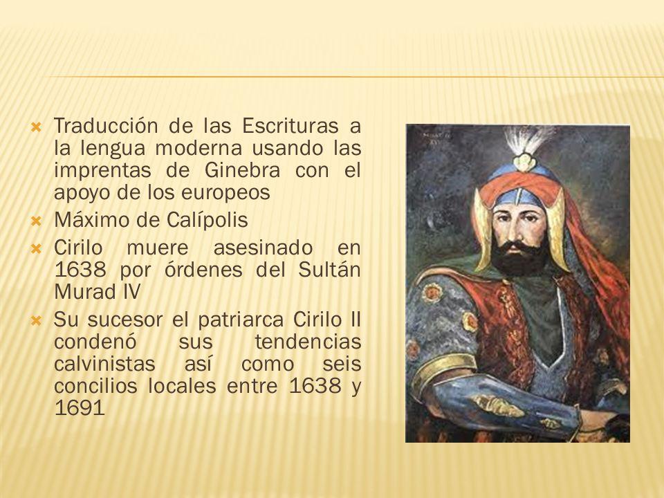 Traducción de las Escrituras a la lengua moderna usando las imprentas de Ginebra con el apoyo de los europeos