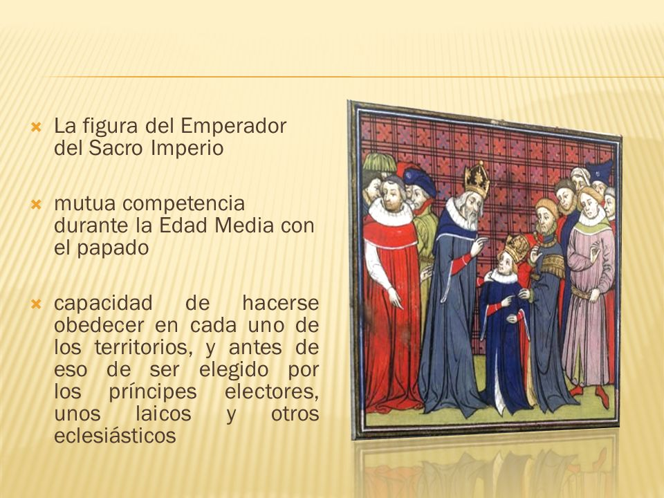 La figura del Emperador del Sacro Imperio