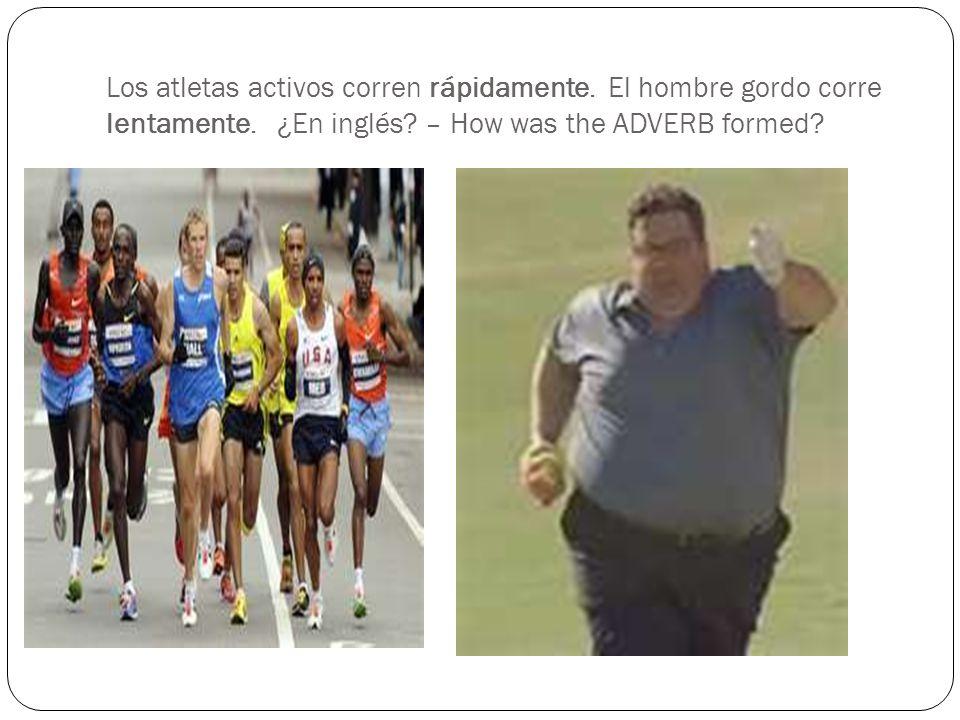 Los atletas activos corren rápidamente