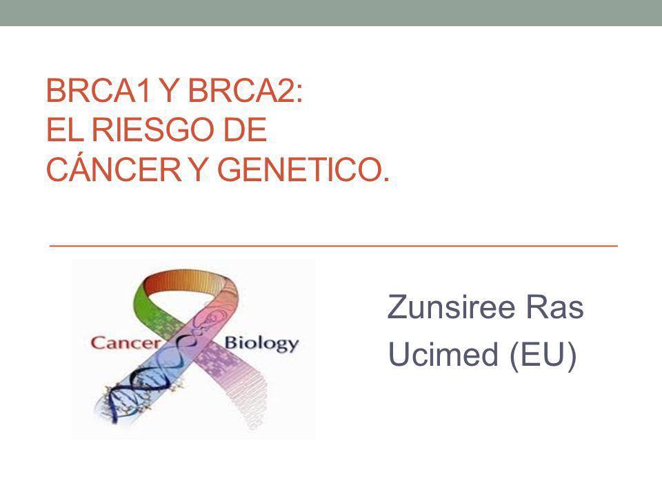 BRCA1 y BRCA2: El riesgo de cáncer y genetico.