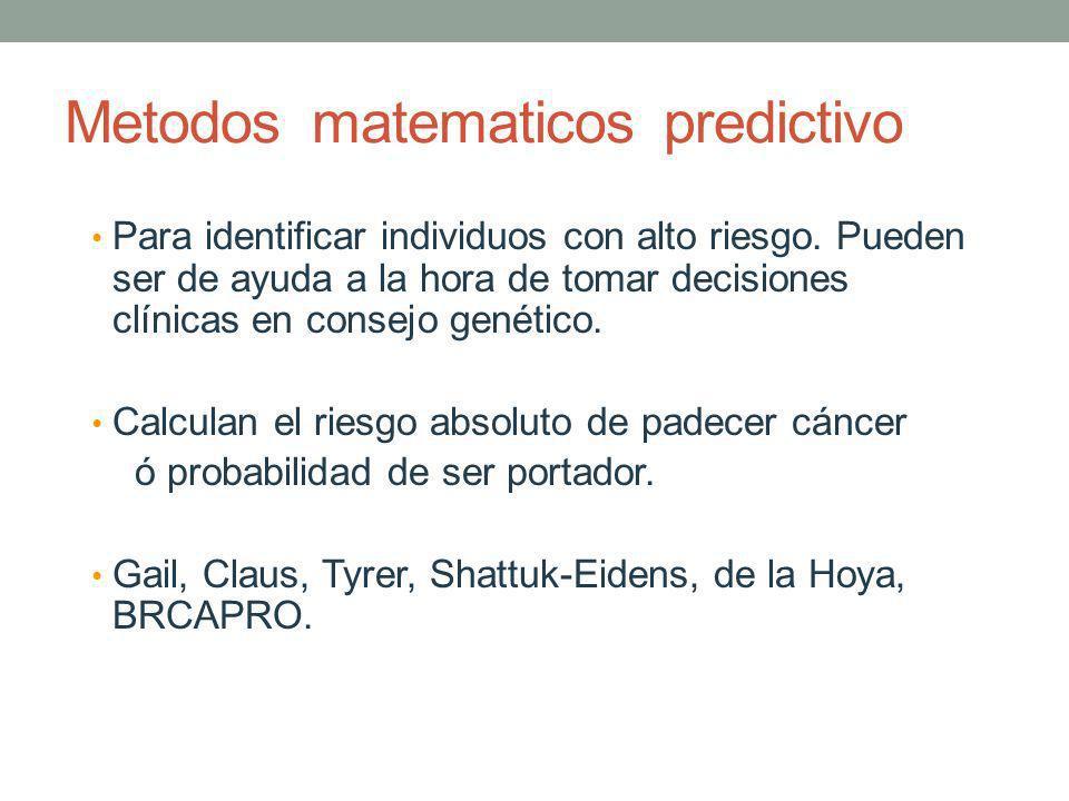 Metodos matematicos predictivo