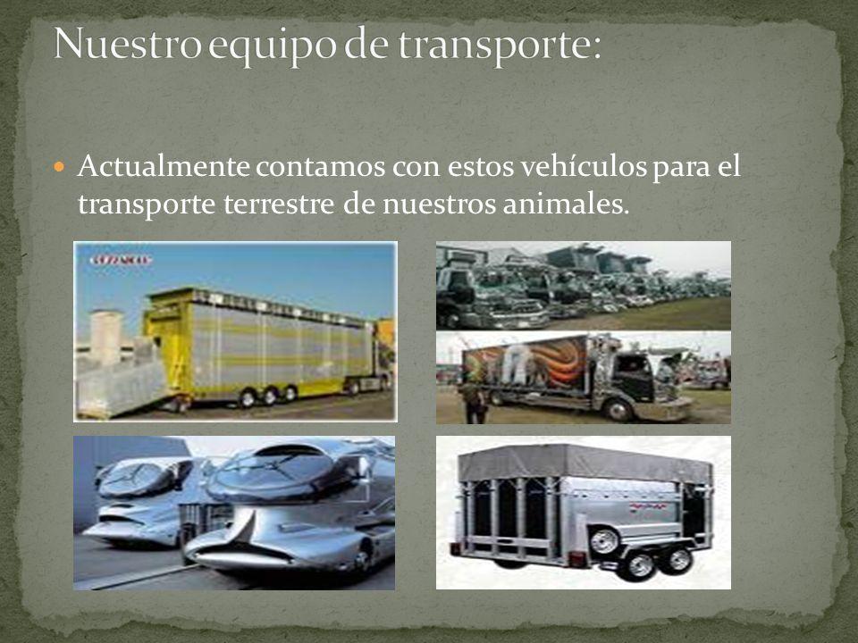 Nuestro equipo de transporte: