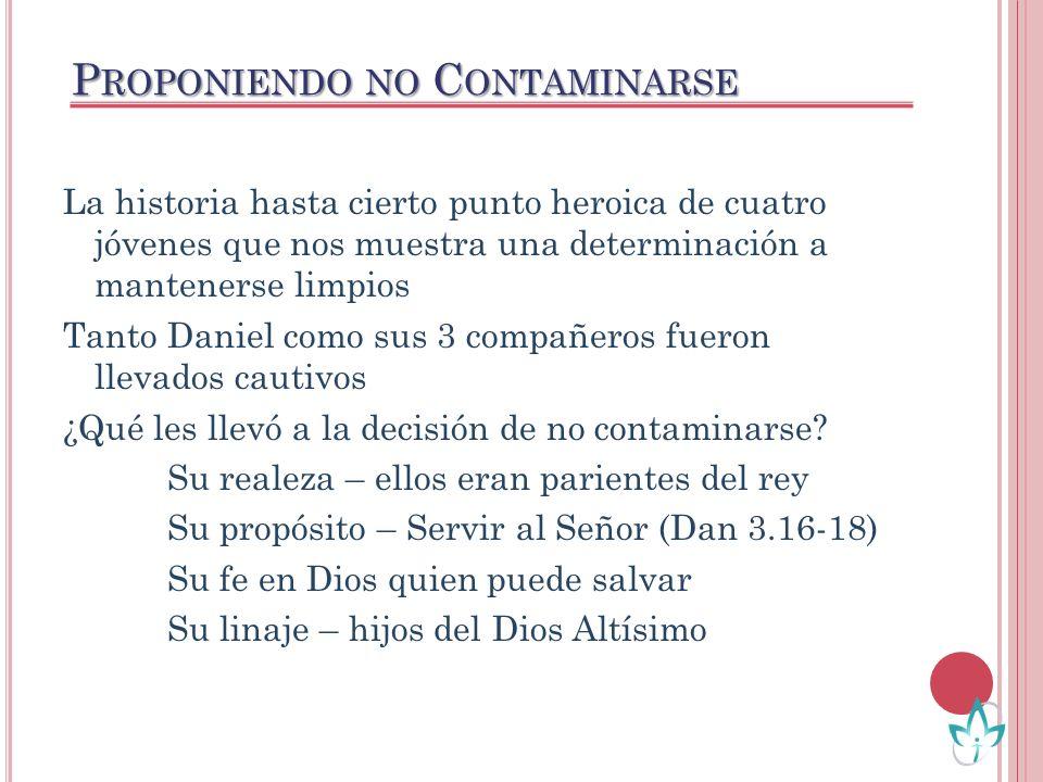 Proponiendo no Contaminarse