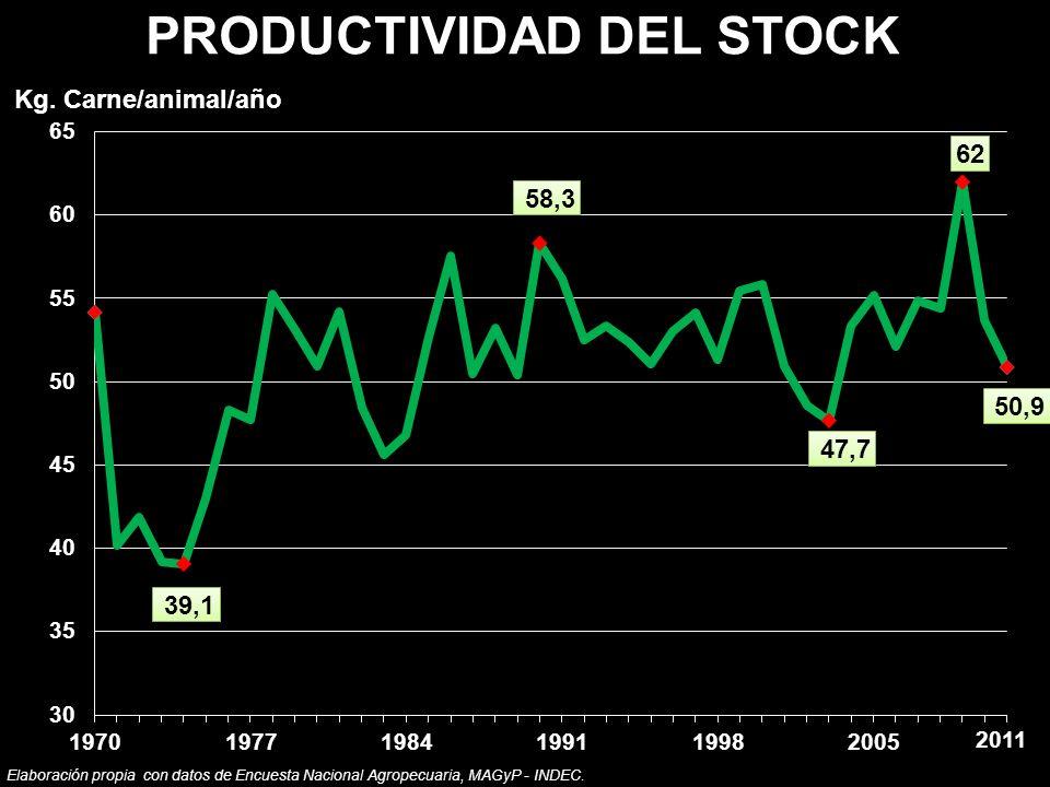 PRODUCTIVIDAD DEL STOCK