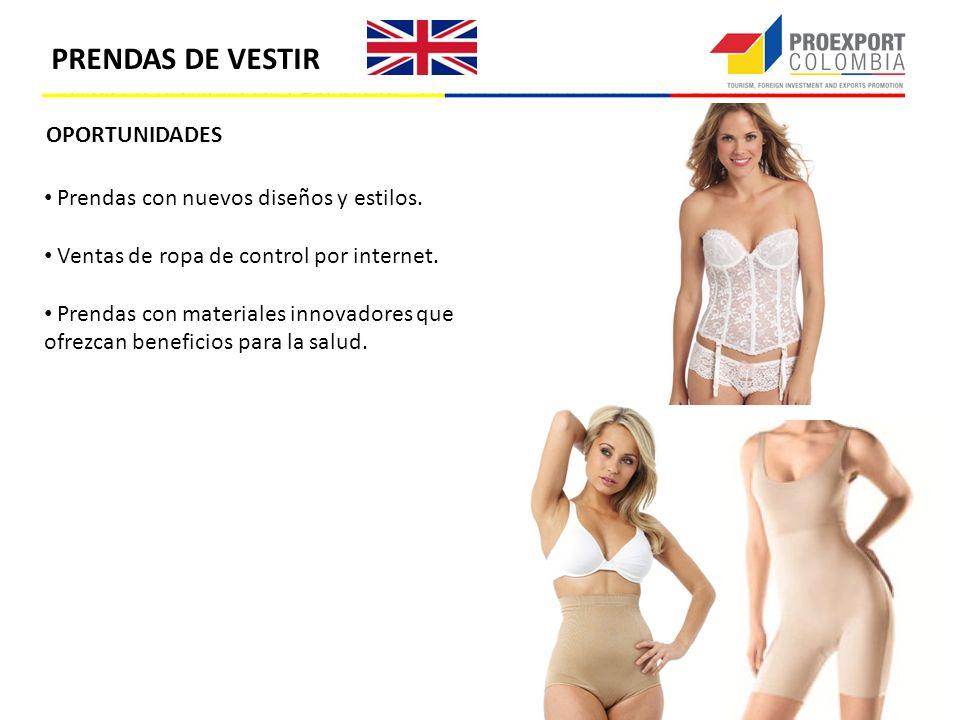 PRENDAS DE VESTIR OPORTUNIDADES Prendas con nuevos diseños y estilos.