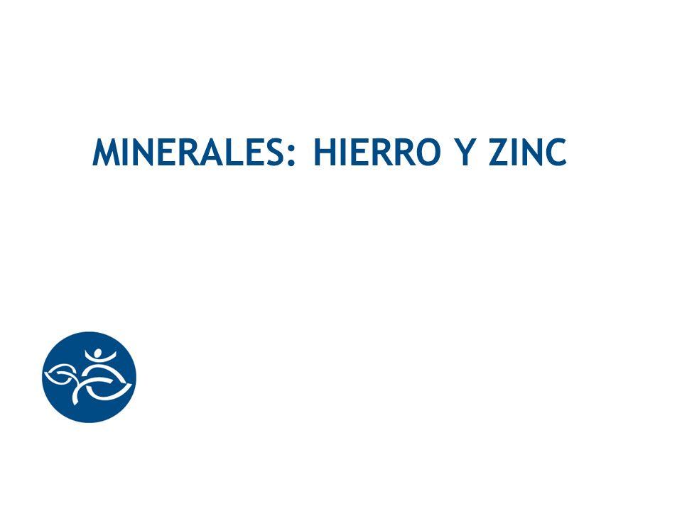 MineralEs: HIERRO Y ZINC