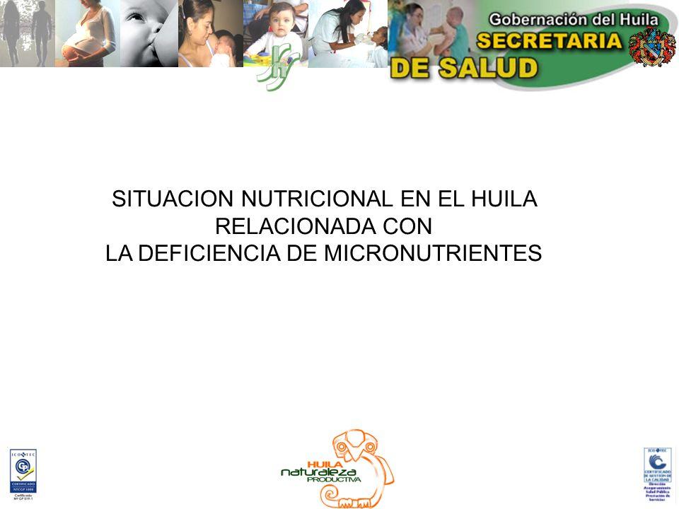 SITUACION NUTRICIONAL EN EL HUILA RELACIONADA CON
