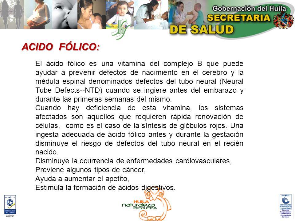 ACIDO FÓLICO: