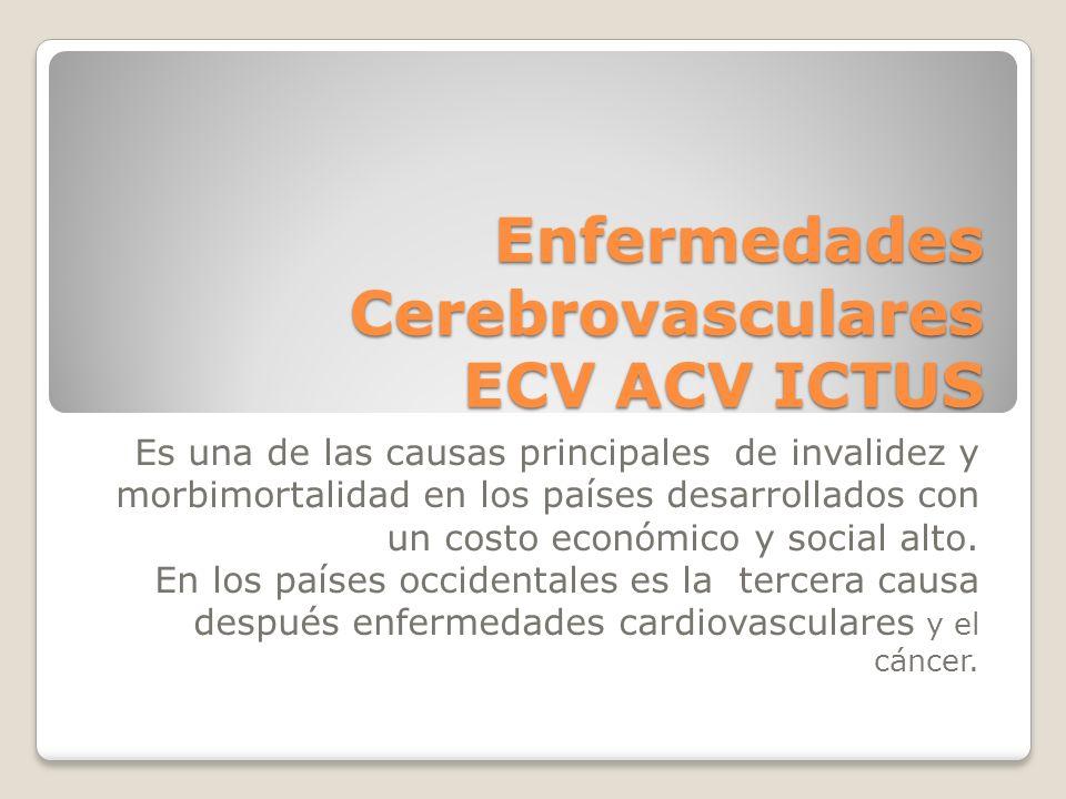 Enfermedades Cerebrovasculares ECV ACV ICTUS