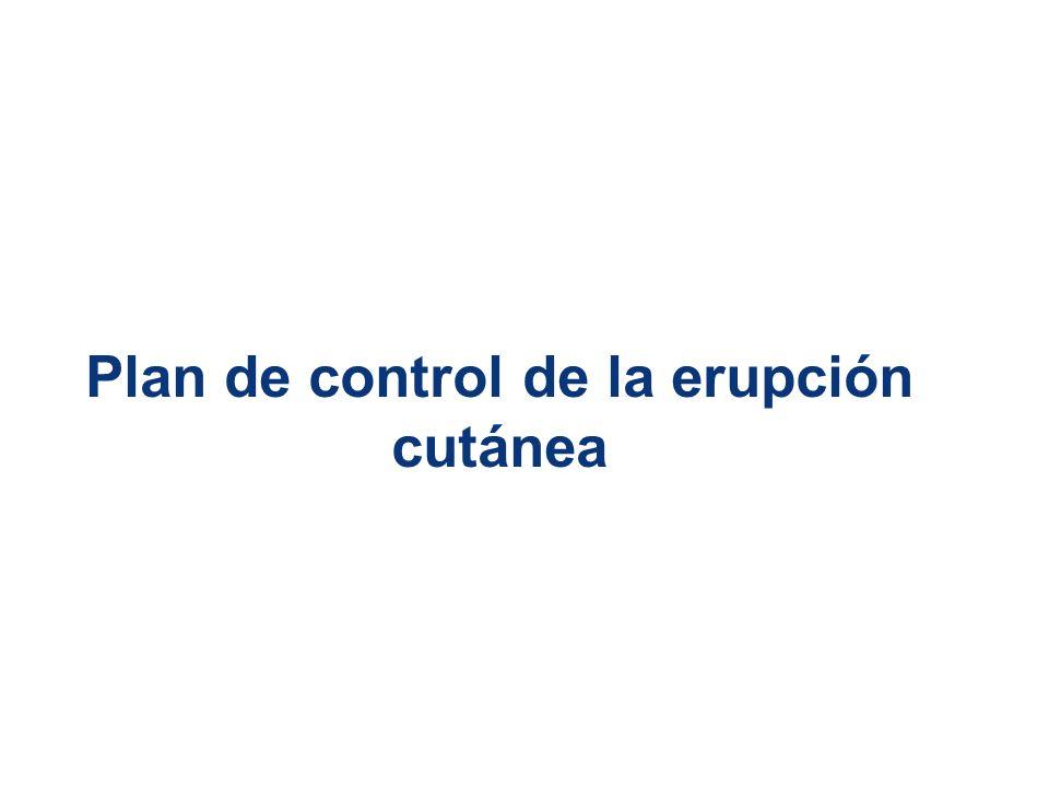 Plan de control de la erupción cutánea