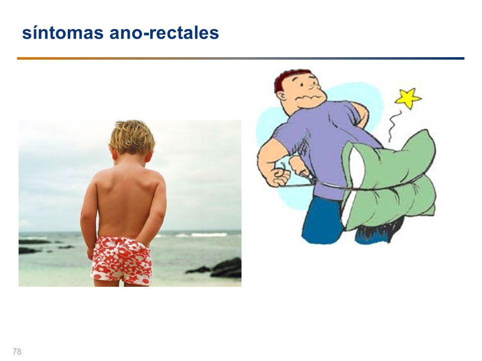 síntomas ano-rectales