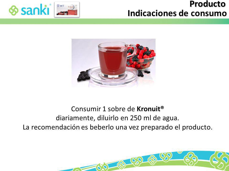 Indicaciones de consumo
