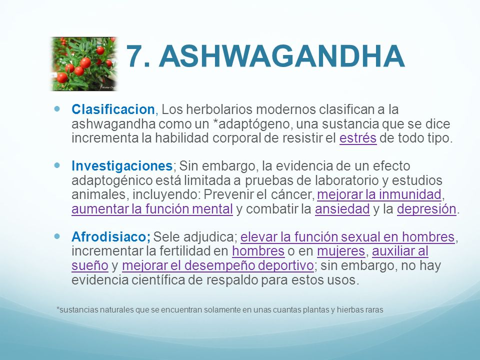 7. Ashwagandha
