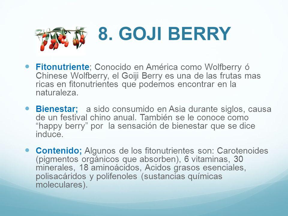 8. GOJI BERRY
