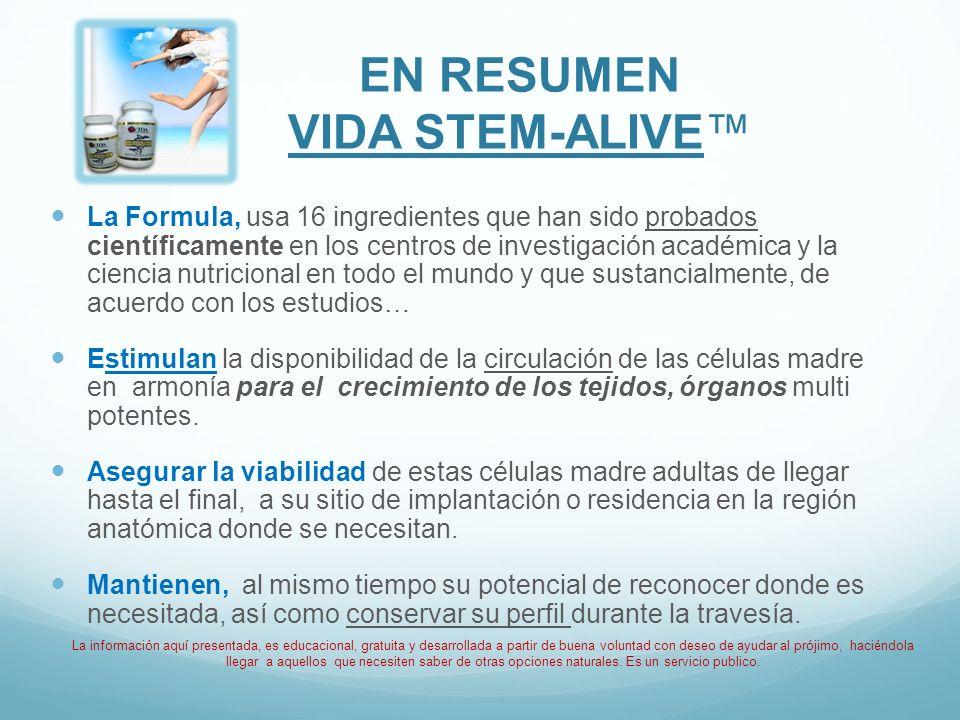 En Resumen VIDA STEM-ALIVE™