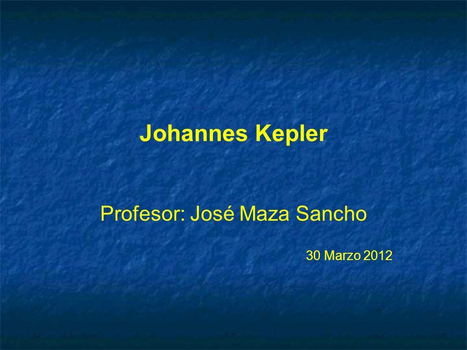 Profesor: José Maza Sancho 30 Marzo 2012