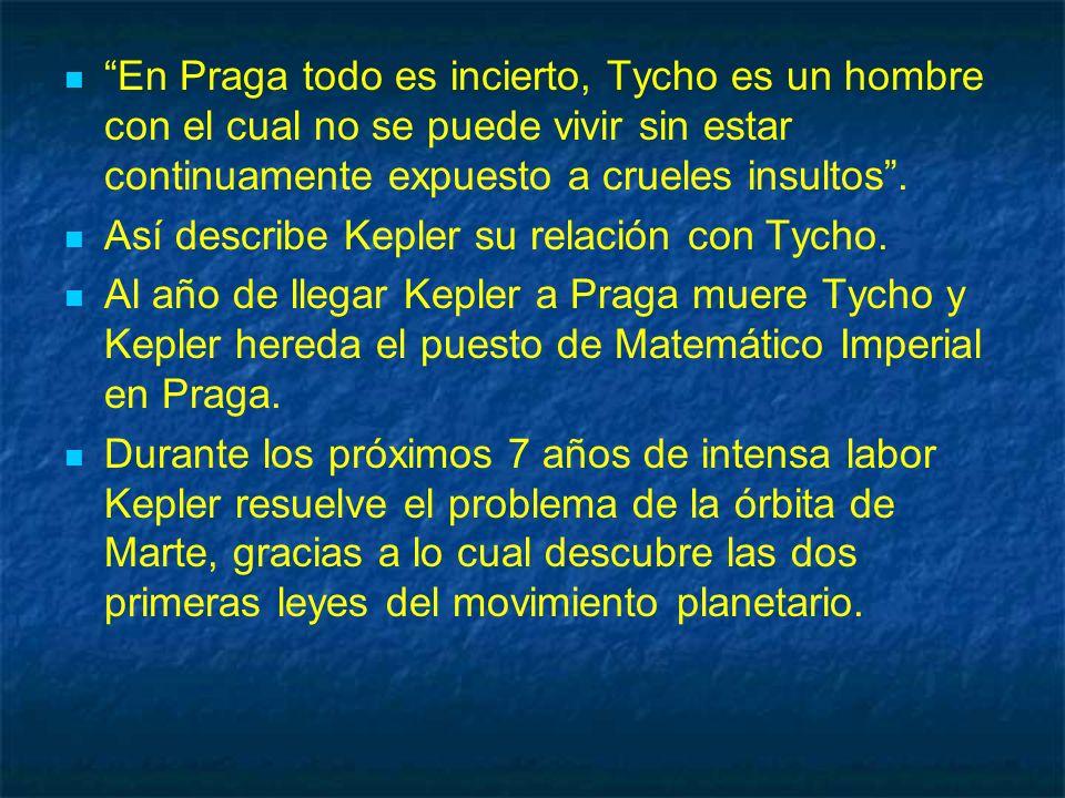 En Praga todo es incierto, Tycho es un hombre con el cual no se puede vivir sin estar continuamente expuesto a crueles insultos .