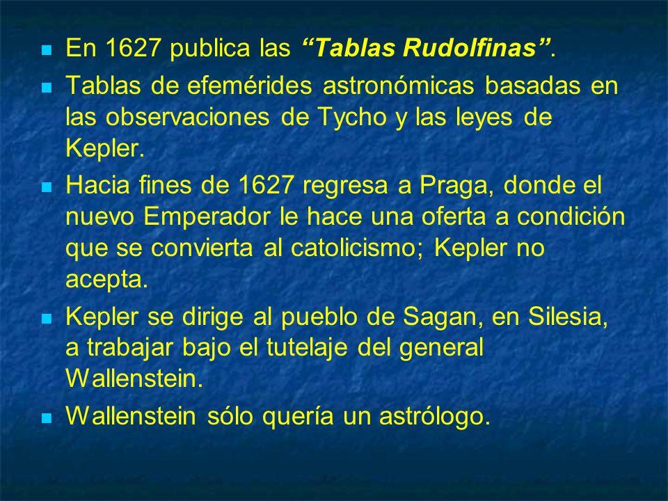 En 1627 publica las Tablas Rudolfinas .