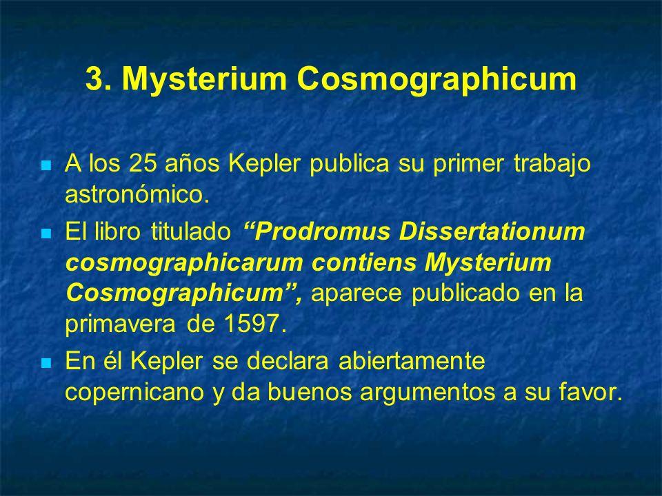 3. Mysterium Cosmographicum