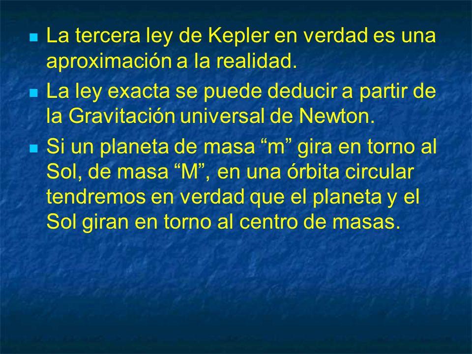La tercera ley de Kepler en verdad es una aproximación a la realidad.