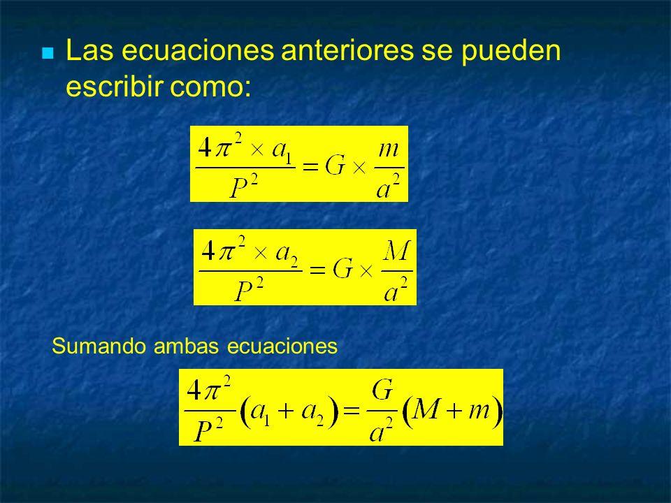 Las ecuaciones anteriores se pueden escribir como: