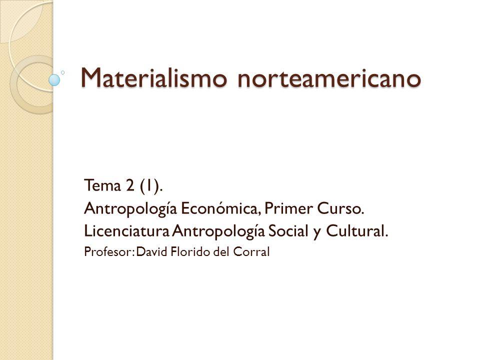 Materialismo norteamericano
