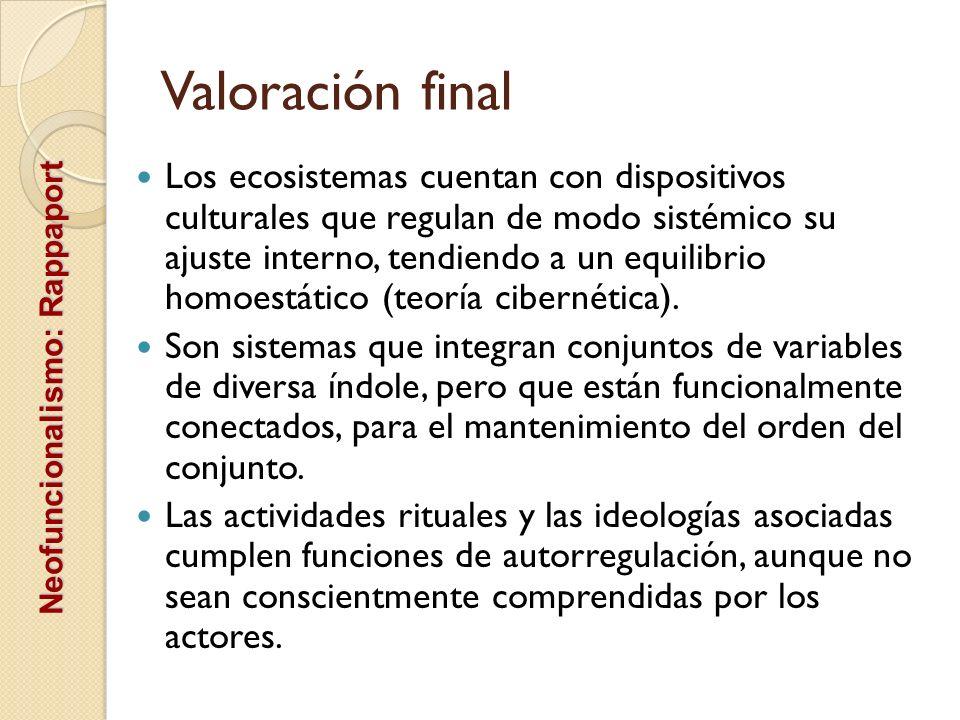 Valoración final