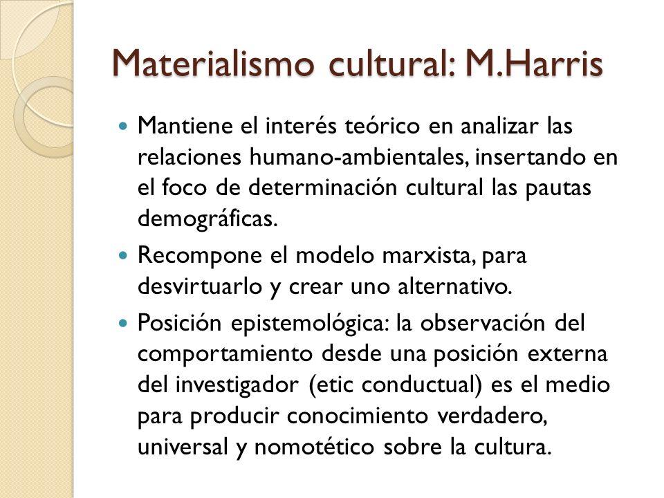 Materialismo cultural: M.Harris