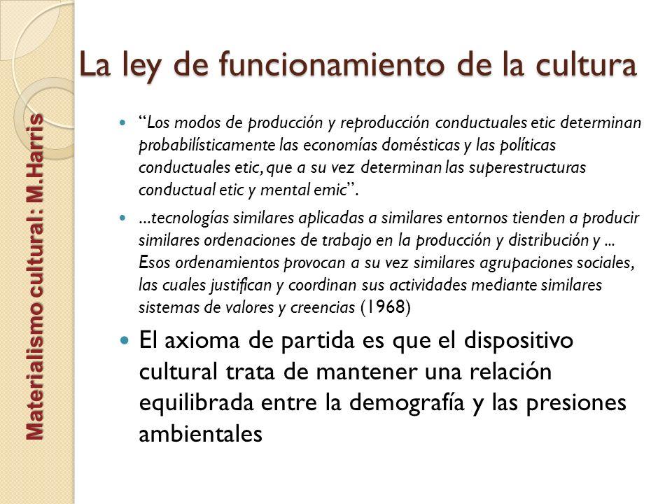 La ley de funcionamiento de la cultura