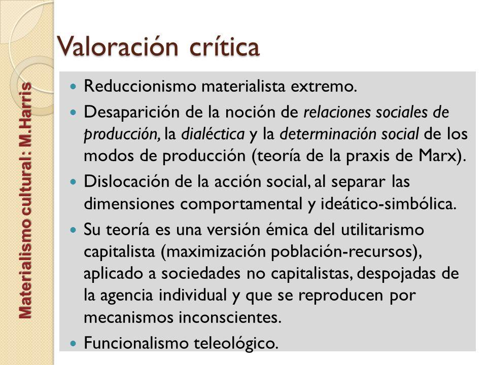 Valoración crítica Reduccionismo materialista extremo.