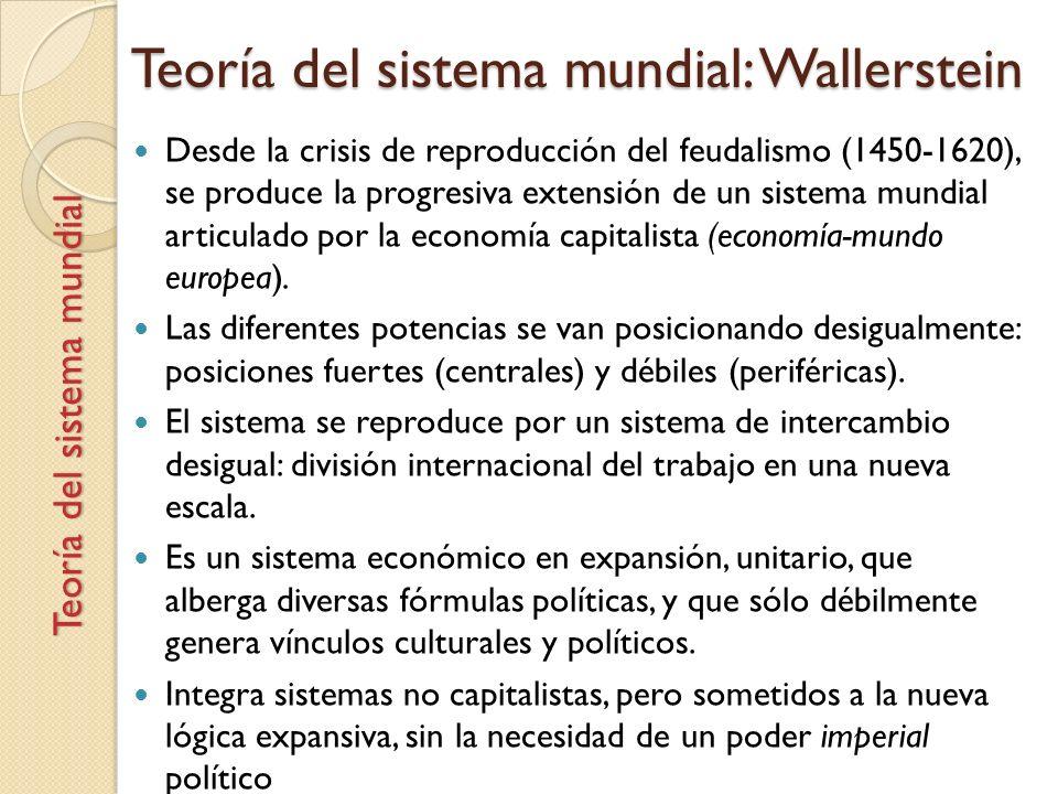 Teoría del sistema mundial: Wallerstein