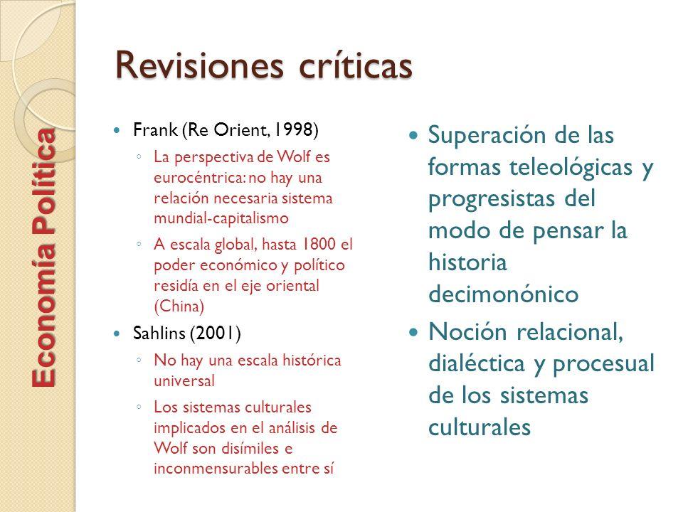 Revisiones críticas Economía Política