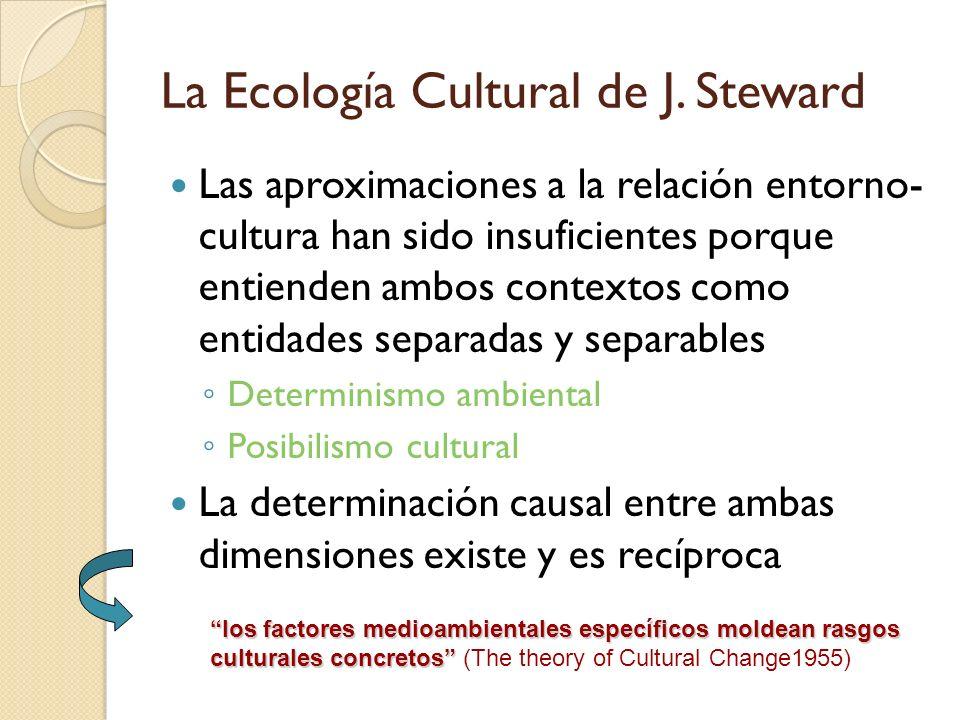 La Ecología Cultural de J. Steward