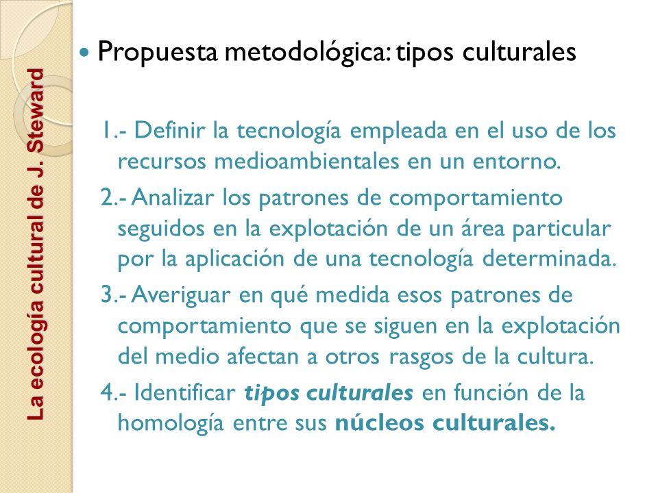Propuesta metodológica: tipos culturales