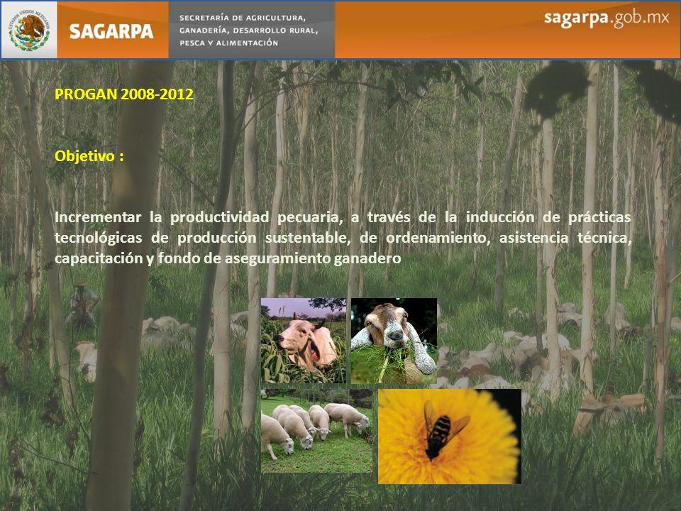 . PROGAN 2008-2012. Objetivo :