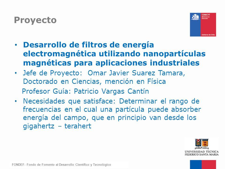Proyecto Desarrollo de filtros de energía electromagnética utilizando nanopartículas magnéticas para aplicaciones industriales.