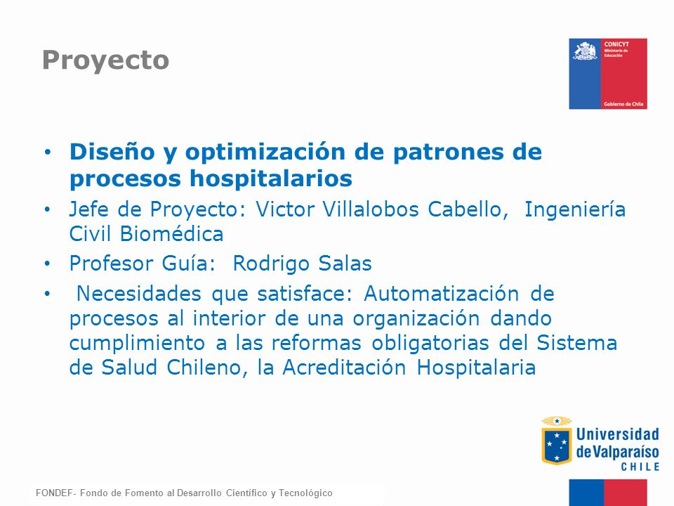 Proyecto Diseño y optimización de patrones de procesos hospitalarios