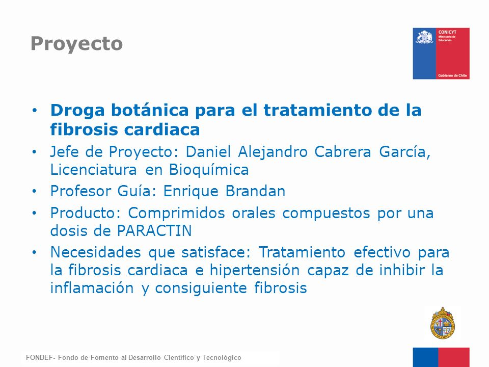 Proyecto Droga botánica para el tratamiento de la fibrosis cardiaca