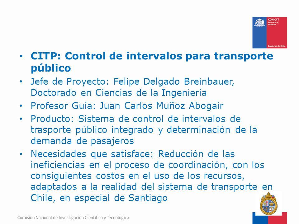 CITP: Control de intervalos para transporte público